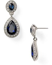 Carolee - Pave Stone Double Drop Earrings - Lyst