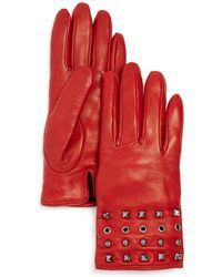 Bloomingdale's - Grommet & Stud Leather Gloves - Lyst