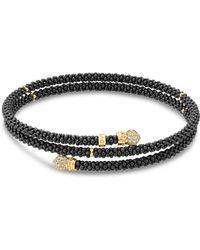 Lagos - Gold & Black Caviar Collection 18k Gold & Diamond Coil Bracelet - Lyst