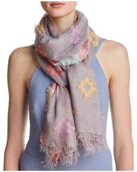 Fraas - Clipped Jacquard Oblong Scarf - Lyst
