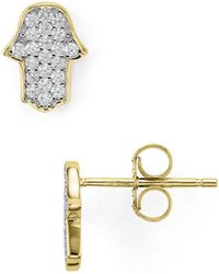 Aqua - Hamsa Stud Earrings - Lyst