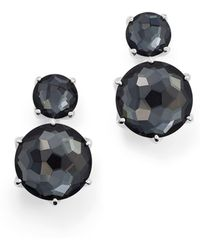 Ippolita - Sterling Silver Rock Candy® Two Stone Doublet Drop Earrings In Clear Quartz And Hematite - Lyst