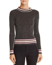 Lucy Paris - Nicole Metallic Rib-knit Sweater - Lyst