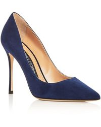 Sergio Rossi - Women's Godiva Suede Pointed Toe Court Shoes - Lyst