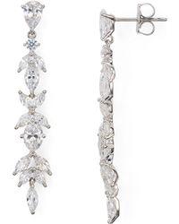 Nadri - Linear Cubic Zirconia Earrings - Lyst