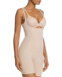 Spanx - Thinstincts Open - Bust Mid - Thigh Bodysuit - Lyst