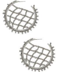BaubleBar - Crochet Lattice Hoop Earrings - Lyst