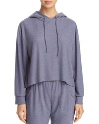 Eberjey - Mina High-low Cropped Hoodie - Lyst