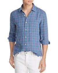 Bloomingdale's - Plaid Linen Classic Fit Shirt - Lyst