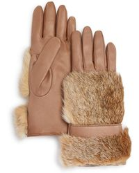 Bloomingdale's - Cashmere Lined Rabbit Fur Gloves - Lyst