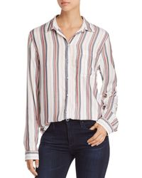 Beach Lunch Lounge - Striped Button-down Shirt - Lyst