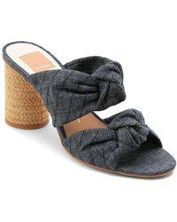 Dolce Vita - Women's Jene Knotted Block Heel Slide Sandals - Lyst