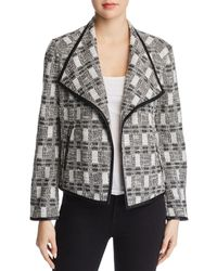 Calvin Klein - Metallic Tweed Jacket - Lyst