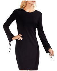 Vince Camuto - Lace-up Sleeve Ribbed Dress - Lyst
