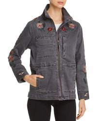 Billy T - Embroidered Twill Utility Jacket - Lyst