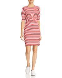 Three Dots - Nantucket Stripe Twist-front Dress - Lyst