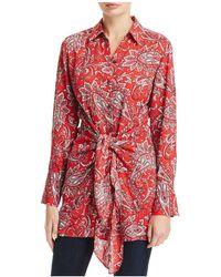 Foxcroft - Serena Tie Waist Paisley Print Tunic - Lyst