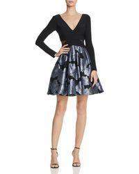 Aqua - Rose-brocade Party Dress - Lyst