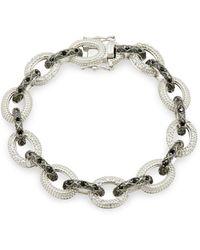 Freida Rothman - Industrial Pave Link Bracelet - Lyst