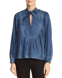 Rebecca Taylor - La Vie Tissue Denim Top - Lyst