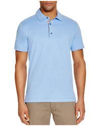 Robert Graham - Stoked Stripe Placket Slim Fit Polo Shirt - Lyst