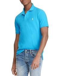 Polo Ralph Lauren - Custom Slim Fit Mesh Short Sleeve Polo Shirt - Lyst