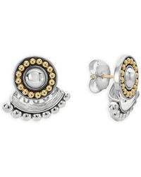 Lagos - 18k Gold And Sterling Silver Signature Caviar Ear Jackets - Lyst