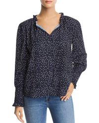 Aqua - Dot-print Top - Lyst