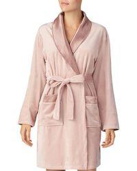 Donna Karan - Plush Short Robe - Lyst