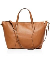 Sandro - Yza Leather Zip Tote - Lyst