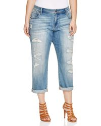 Lucky Brand - Reese Distressed Boyfriend Jeans In San Marcos - Lyst