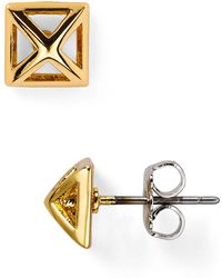 Rebecca Minkoff - Pyramid Cut-out Stud Earrings - Lyst