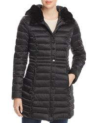 Laundry by Shelli Segal - Mercury Puffer Coat With Faux Fur-trimmed Hood - Lyst