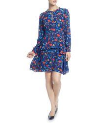 Catherine Malandrino - Floral Print Keyhole Dress - Lyst
