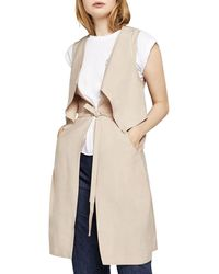 BCBGeneration - Draped Long Vest - Lyst