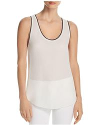 Theory - Tipped Silk Tank - Lyst
