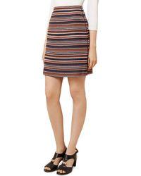 Hobbs - Tammi Striped Tweed Skirt - Lyst