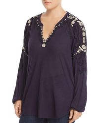 Lucky Brand - Embroidered Top - Lyst