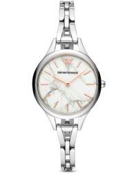 Emporio Armani - Stainless Steel Bracelet Watch 32mm - Lyst