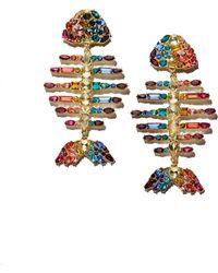 BaubleBar Baiji Multicolour Fish Drop Earrings