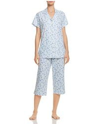 Eileen West - Floral Notch Cropped Pj Set - Lyst