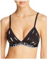 Calvin Klein | Id Cotton Triangle Bralette | Lyst