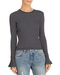 The Fifth Label - Essay Striped Bell-sleeve Top - Lyst