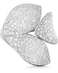Pasquale Bruni - 18k White Gold Secret Garden Diamond Three-petal Ring - Lyst