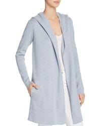 Minnie Rose - Hooded Open-front Cardigan - Lyst