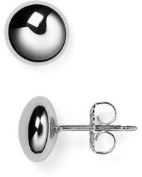 Bloomingdale's - Sterling Silver Flat Bead Stud Earrings - Lyst