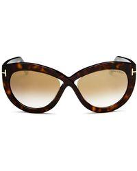 437174ae444 Lyst - Tom Ford Henry Wayfarer Sunglasses