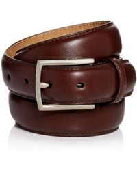 Cole Haan - Topstitch Leather Belt - Lyst