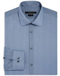 John Varvatos - Small Dot Waves Slim Fit Dress Shirt - Lyst