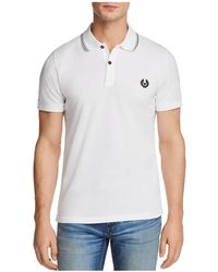 Belstaff - Stewarton Tipped Short Sleeve Polo Shirt - Lyst